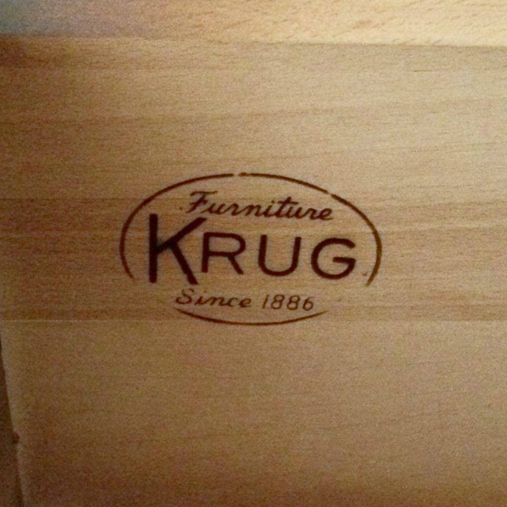 antique furniture brand label