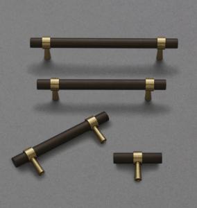black cabinet handles