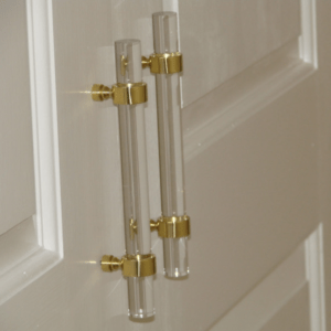 gold accented cabinet handles