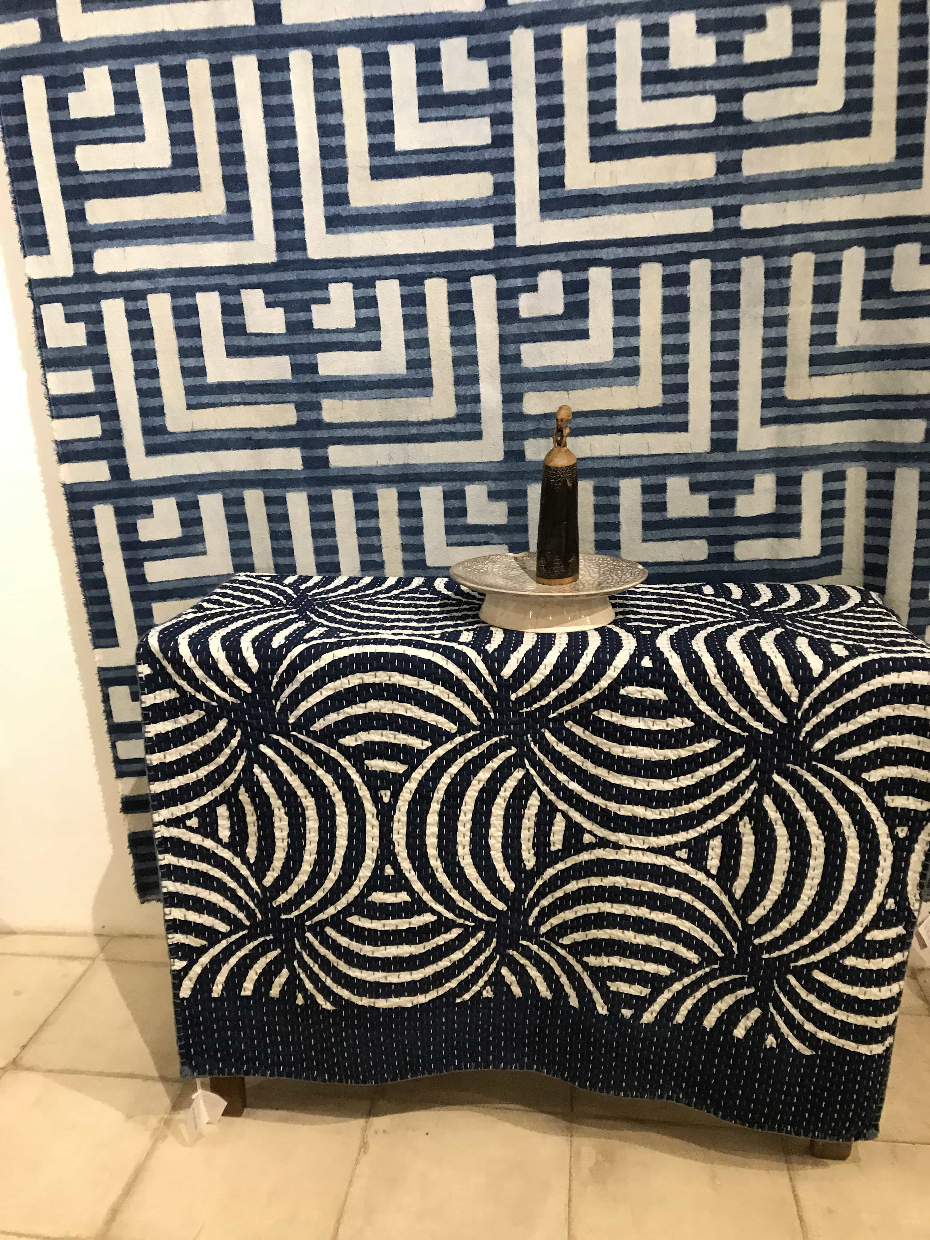 blue batik designs