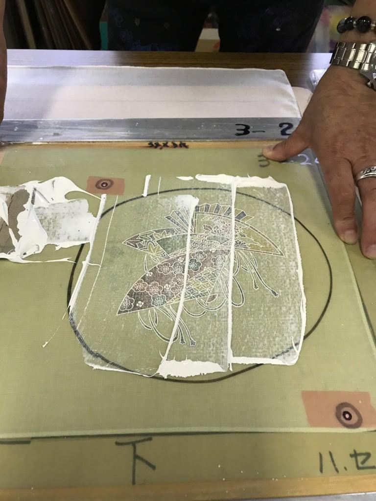 screen printing inking demonstration