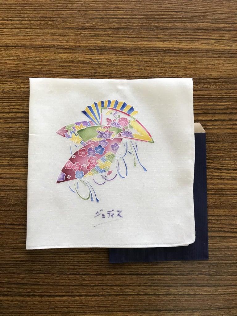 printed handkerchiefs - fan design