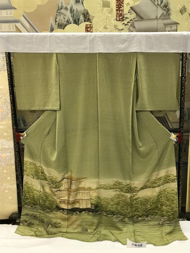 scenery painted on formal kimono