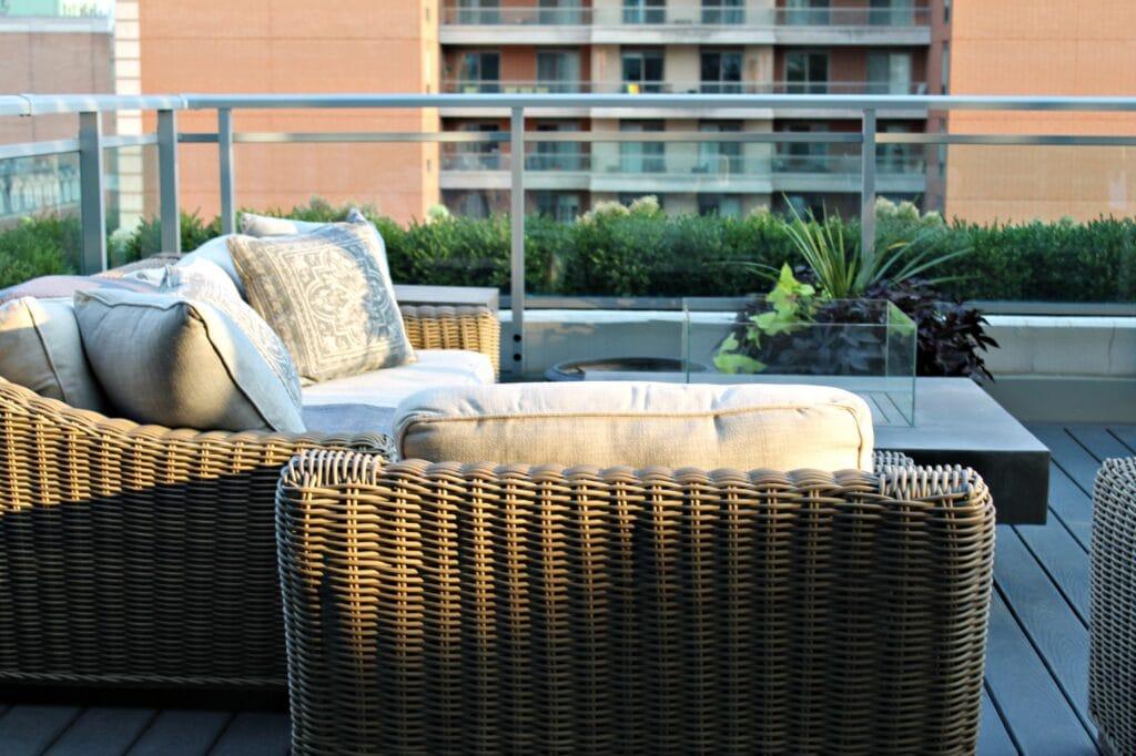 evening light on urban terrace