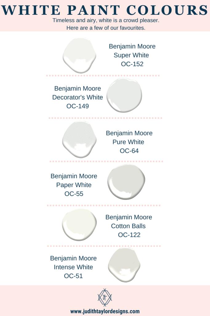 white paint colours infographic