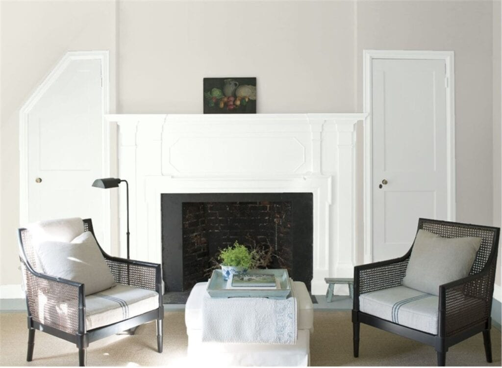 living room with soft gray wall colour