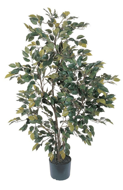 Faux potted ficus tree