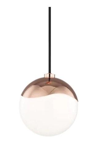 ella polished copper small pendant light