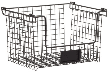Stacking Wire Basket w/ Label